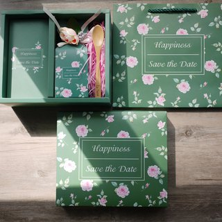 La Santé French Handmade Jam - Forest Green Wedding Gift Box (Three Boxes)
