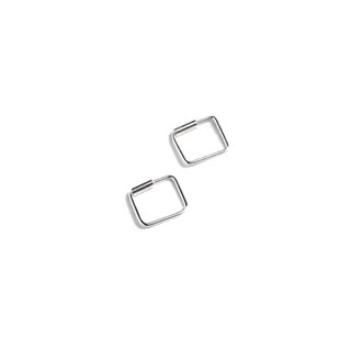 Simple Square sterling silver earrings (Small)