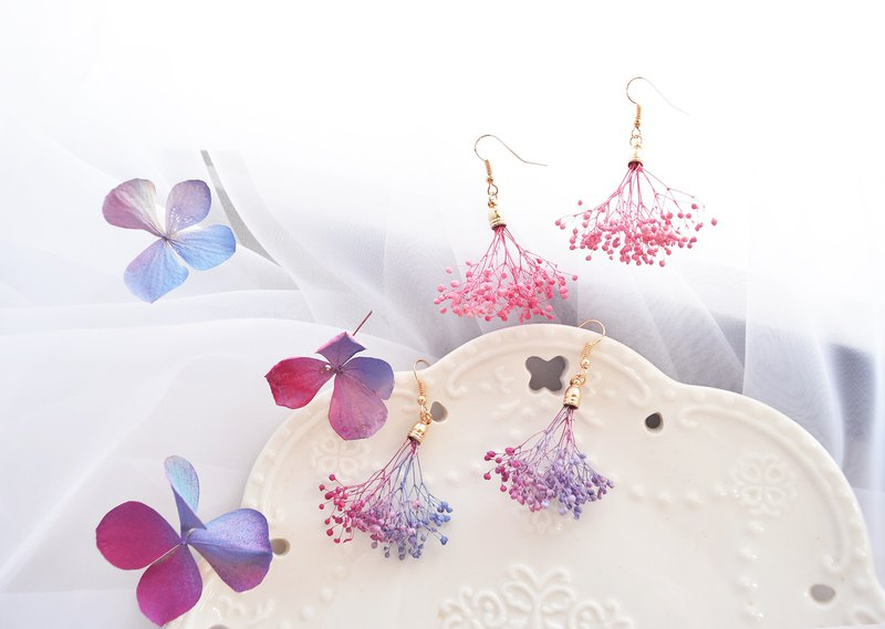 WANYI temperament dry flower earrings dry flowers without flowers exchange gifts wedding small things