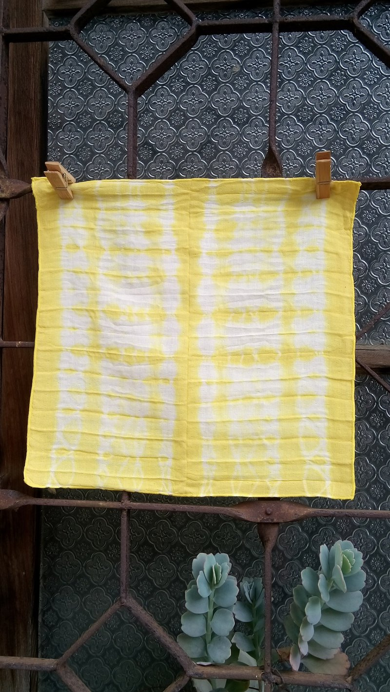 Fumu leaf dyeing. Double cotton yarn towel