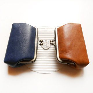 His hand の temperature big mouth coin purse / mouth gold bag [made in Taiwan]