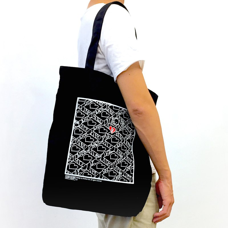 [UPUP placard] shoulder canvas bag