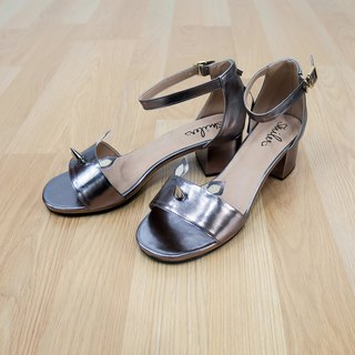 Wanna Rhino Maxi Sandals - Dark Silver