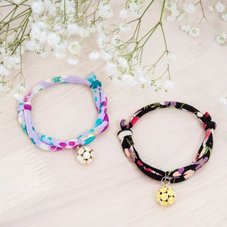 Japanese kimono dog collar & cat collar【Adjustable】Sakura pink_S size