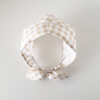 Milk tea checkered hat