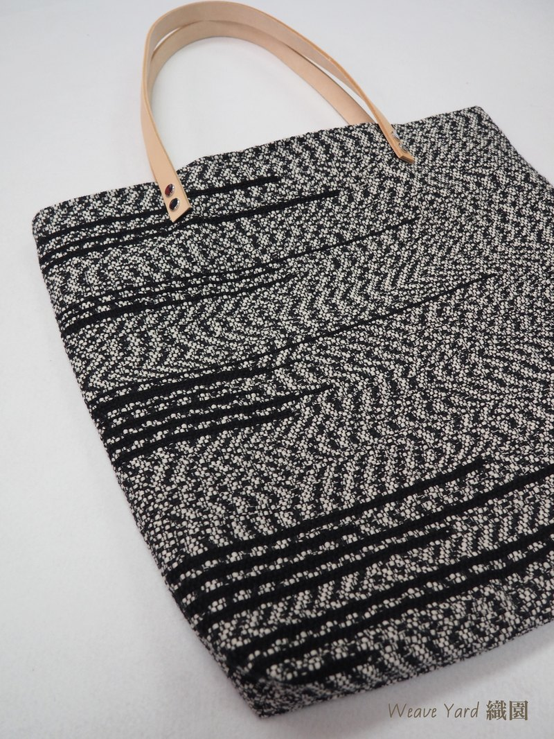 Tote Bag with Black Stripe