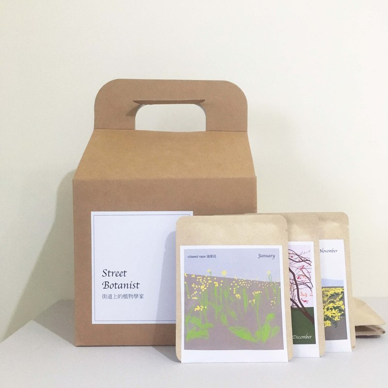 Street Botanist in Taiwan/ 12 coffee drip bags featuring monthly flowers