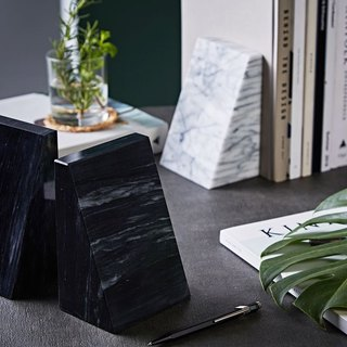 Natural marble bookends / elegant and stable / living good