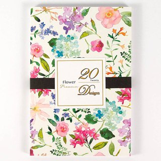 Watercolor flowers postcards 20 into [Hallmark-postcards]