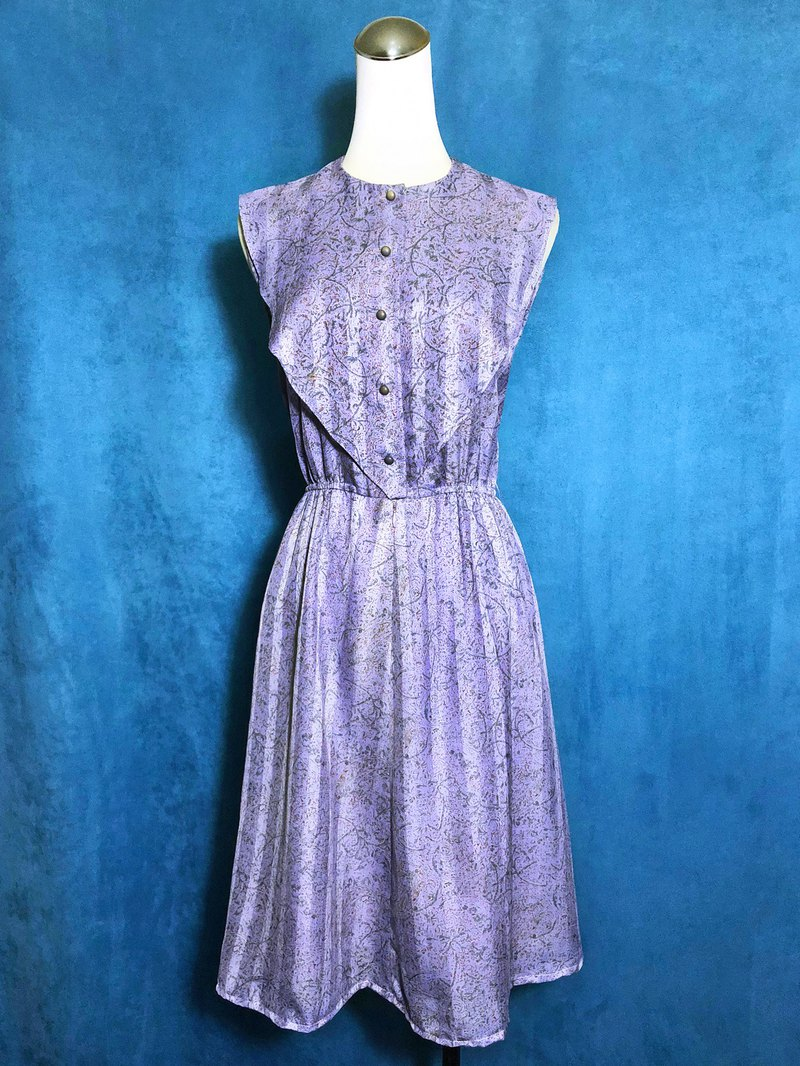 Pink purple textured sleeveless vintage dress / brought back to VINTAGE abroad