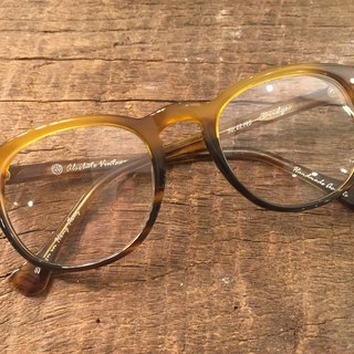Absolute Vintage - Bridges Street (Bridges Street) pear-shaped plate frame glasses Young - Yellow Yellow