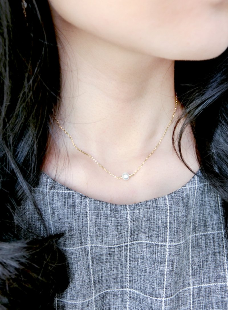 Snowball pearl clavicle chain necklace clavicle chain