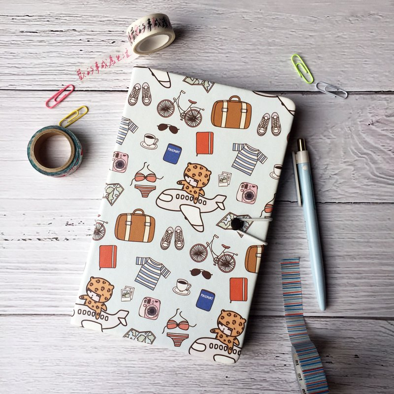 Illustration notebook notepad note book stationery (with rope button) Hong Kong design