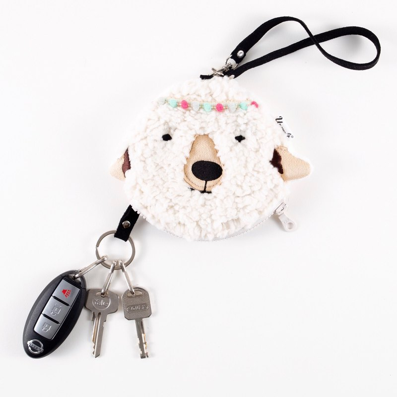 Sheep female bag / functional animal pouch  / card holder&key keeper sheep