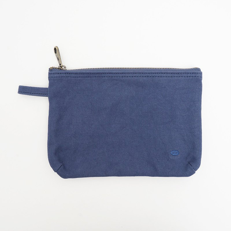 Mushroom MOGU / Canvas Storage Bag / Deep Blue / Boarding Pass