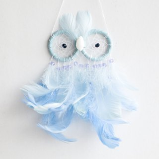 Owl Style Dream Catcher - Pink Blue (Tanning Style Series) - Birthday Present