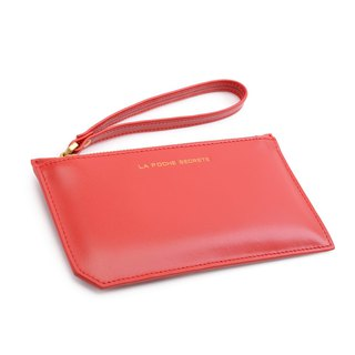 La Poche Secrete Christmas gift: glossy leather small bag _ gift red