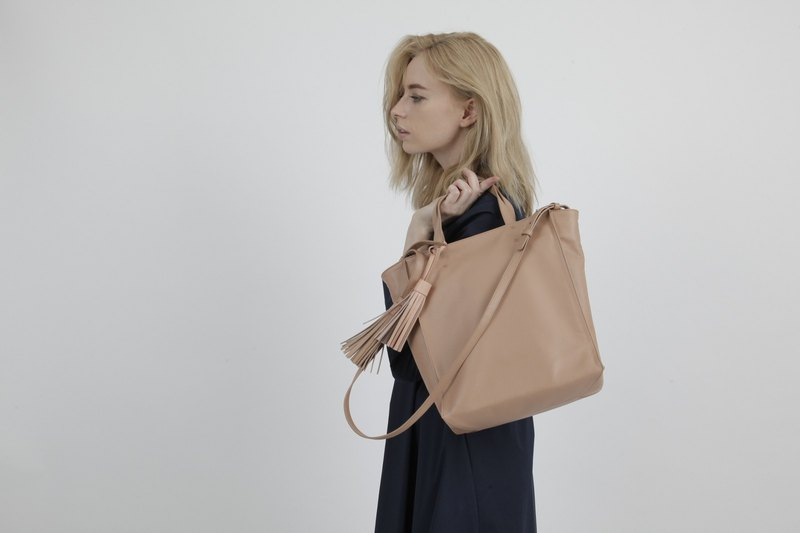 SOUFFLE Brera Crossbody in Naked Sand Tan