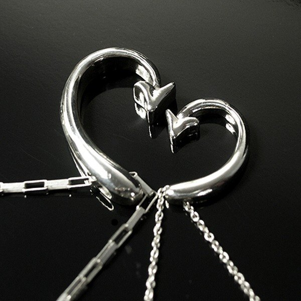 Love Hook couple sterling silver necklaces