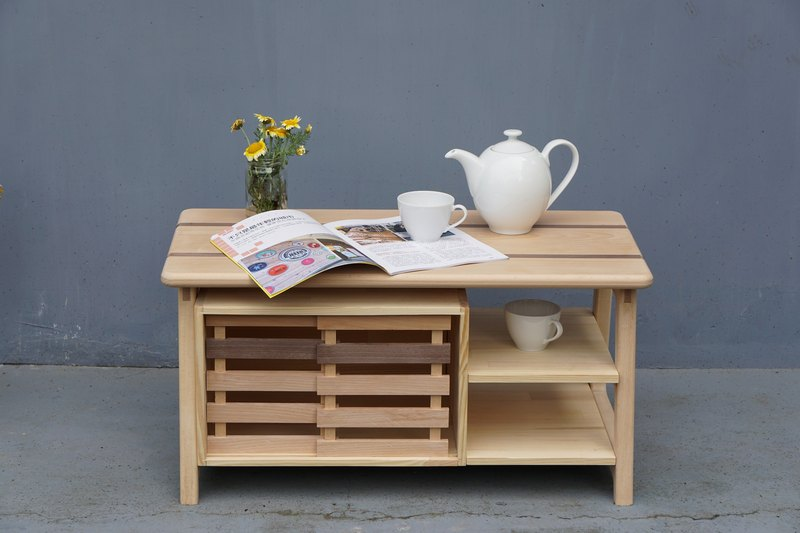 """Three and workshop"" coffee table a few"