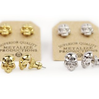 【METALIZE】F.T.W Skull Earrings F.T.W骷髏耳環