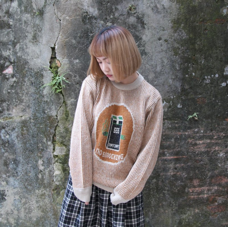 Back to Green :: na Do not smoke vintage sweater (ST-31)