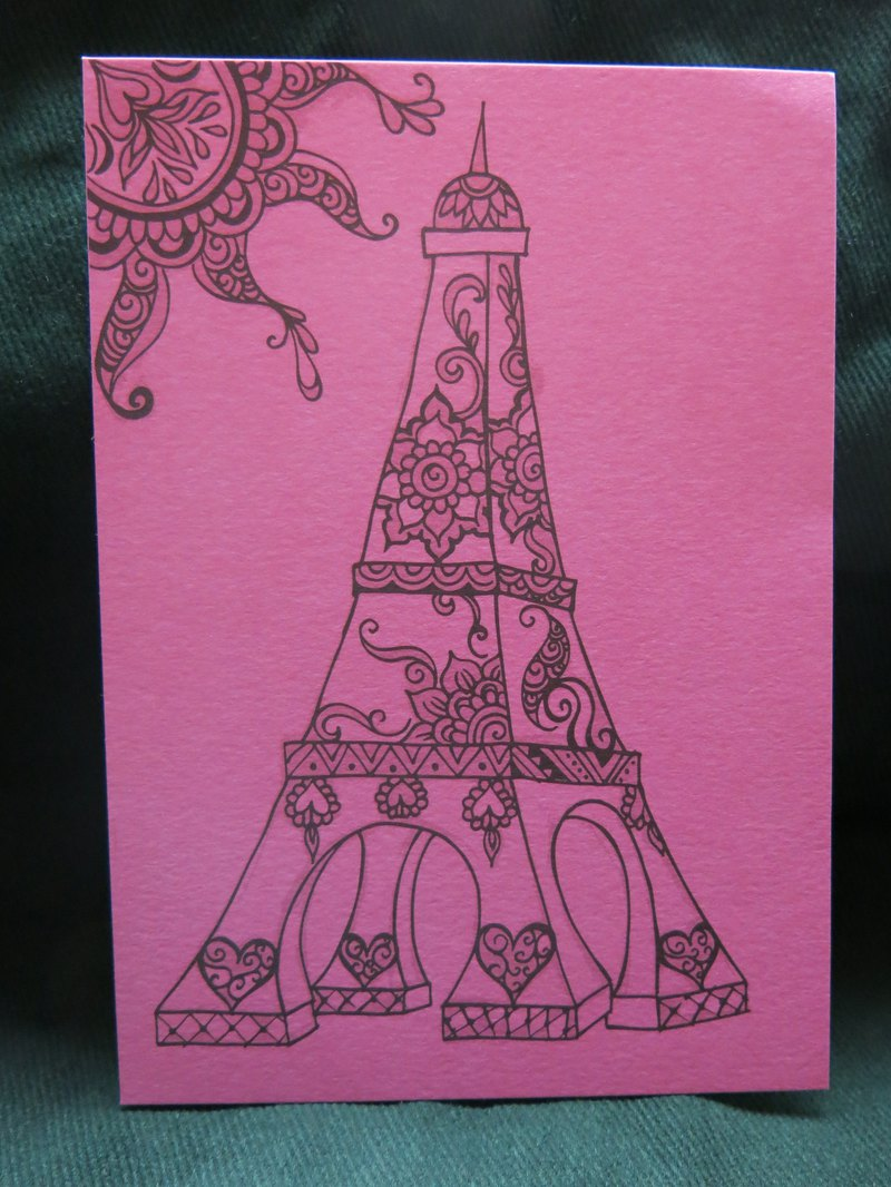 Pink dream postcard