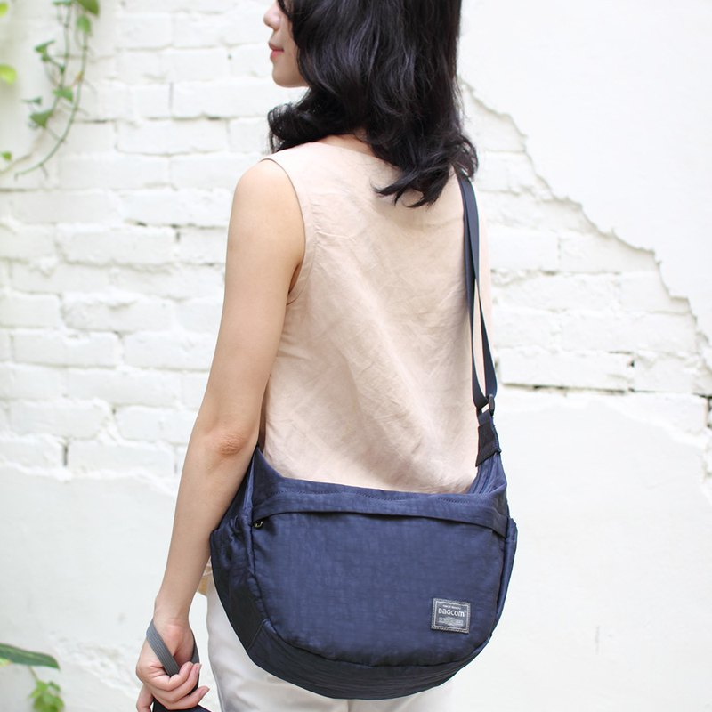 New product ~ soft double double shoulder bag (water resistant) - blue _100423