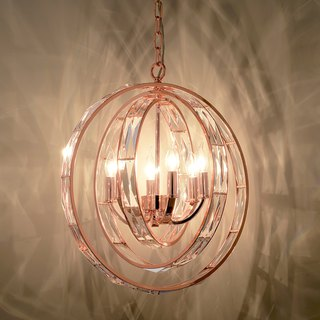 Three-ring rose gold chandelier