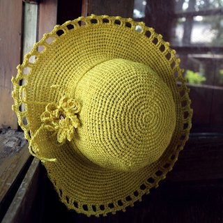 Handmade - pattern weave - visor - travel / light travel / birthday gift