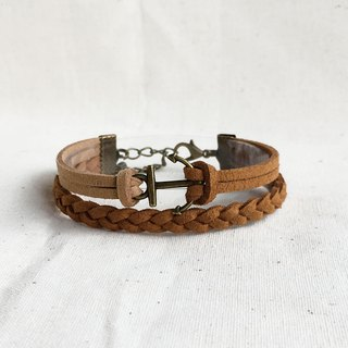 Handmade Double Braided Anchor Bracelets –Caramel limited
