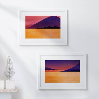 Custom sound waves Art Decoration Painting sound of the scenery A3 to send a total of two frames