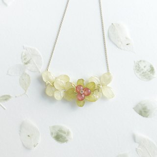 [Fleur d'amour] Hydrangea Jewel Necklace 18K Gold Plated Christmas Presents