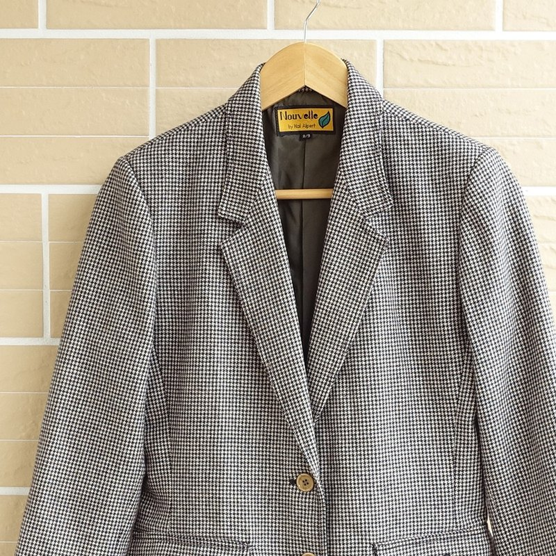 │Slowly│ Thousand Island Plaid - Vintage Coat│vintage. Vintage. Art.