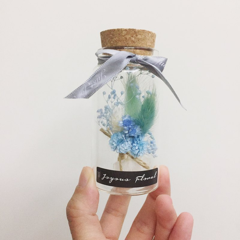 ✦ blue Hawaiian ✦ illusory bottle series eternal flower blue line mini drying hand bouquet / birthday ceremony sisters gift bottle flower graduation ceremony