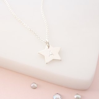 ☆ Star Alphabet Necklace / Sterling Silver Star Necklace / Custom English Alphabet Necklace / Birthday Gift Valentine's Day gift