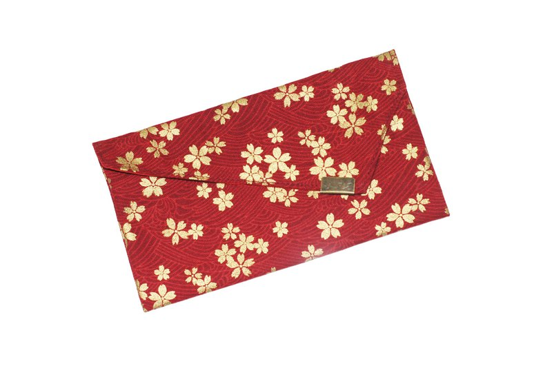 [AnnaNina] handmade double red bag, passbook, cash storage bag, love cherry red