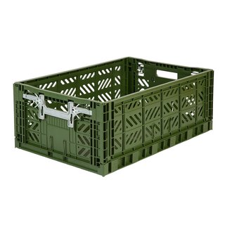 Turkey Aykasa Folding Storage Basket (L) - Army Green