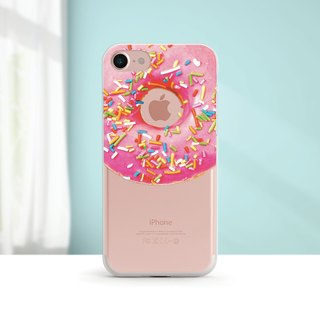 Donut - shatter-resistant transparent soft shell - iPhone X, iPhone 8, iPhone 7, iPhone 7 plus, iPhone 6, iPhone SE, Samsung