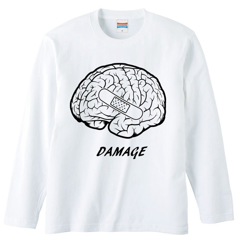 [Long sleeve T-shirt] Damage (Brain)
