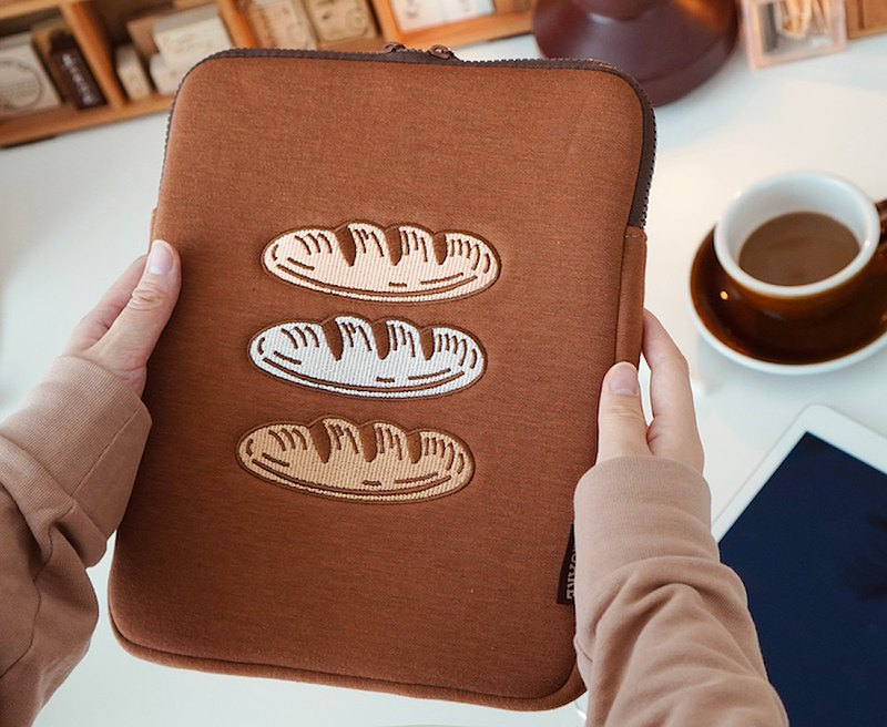 [Square Studio] Bakery bread baguette computer iPad bag tablet storage protective sleeve liner bag
