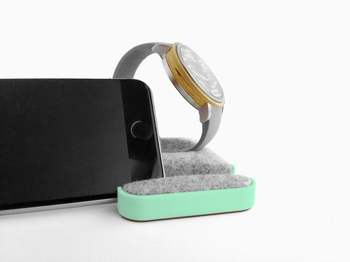 Unique multifunctional tray, Watch stand, Smartphone stand, Smart phone stand, Home sweet home Tray, Smartwatch, apple, iphone, dock【パステルグリーン】