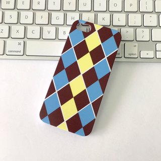 Argyle Yellow & Blue Print Soft / Hard Case for iPhone X,  iPhone 8,  iPhone 8 Plus, iPhone 7 case, iPhone 7 Plus case, iPhone 6/6S, iPhone 6/6S Plus, Samsung Galaxy Note 7 case, Note 5 case, S7 Edge case, S7 case