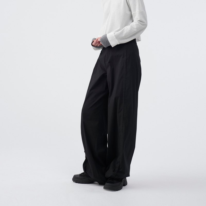 TRAN - wide leg trousers with adjustable drawcords