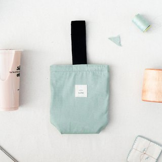 Insulated canvas beverage bag - Mint