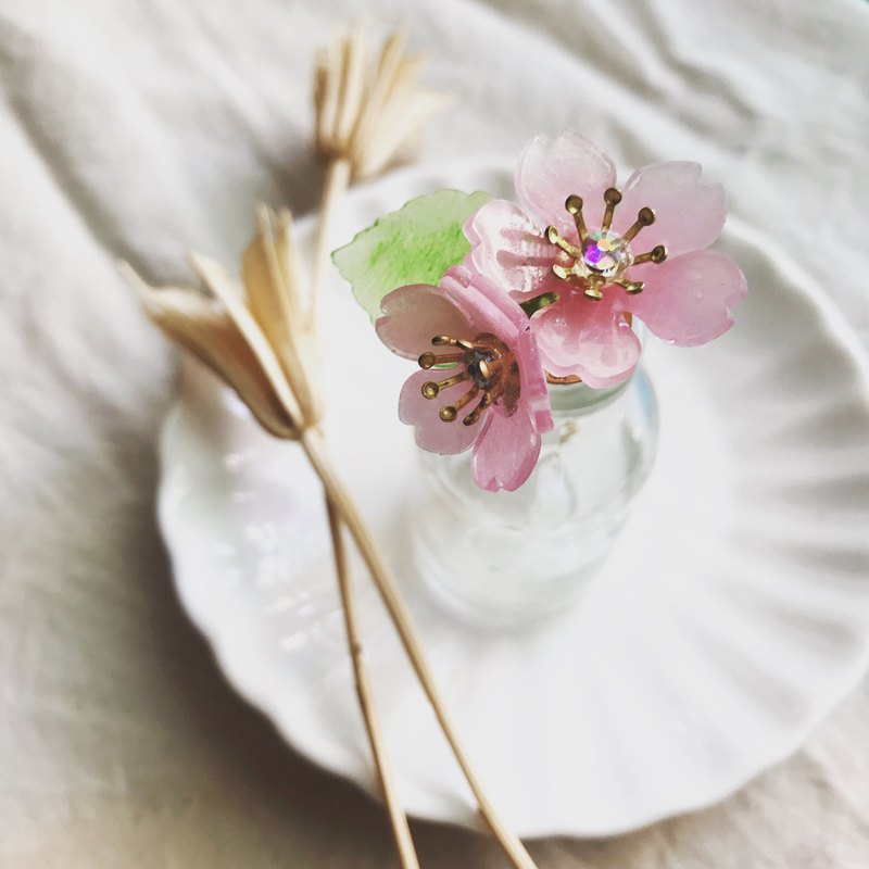 KOKONOE [Ye Ying] transparent resin cherry blossom fork