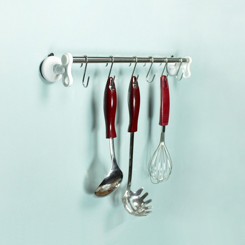 Dipper strong suction cup wall mount (middle) - kitchen rack set (S hook 6 into)