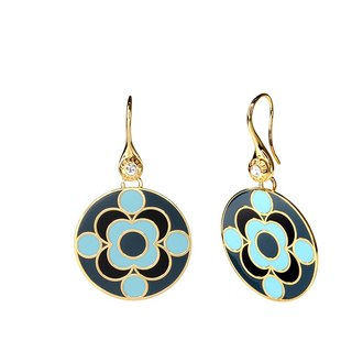 Quantum James Franck Cloisonne Earrings (gold) -18,109,151,110