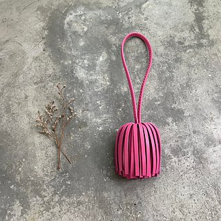 KAKU leather design leather tassel pink