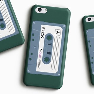TDK Cassette - Green Phone case